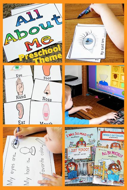 All About Me Preschool Theme - Mommys Little Helper (has other units- apples, caterpillar, letter B...etc)