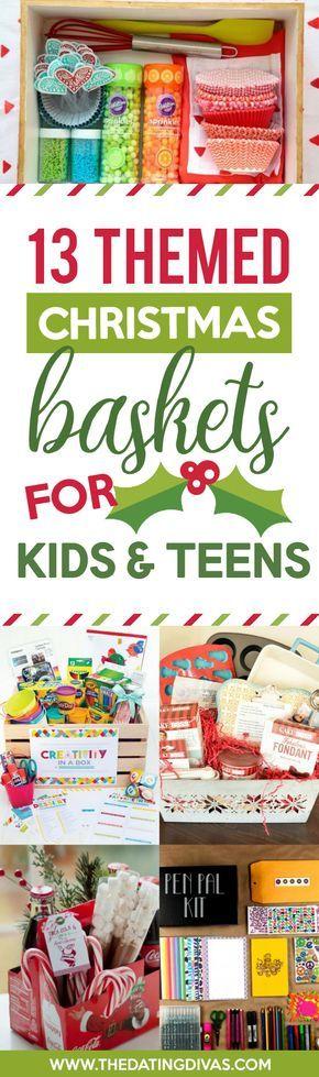 Themed Christmas Gift Baskets for Kids and Teens