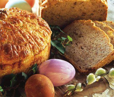 Recept: Påskbröd med valnötter