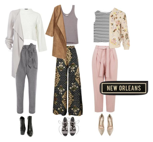 New Orleans vibes by mollyhatch on Polyvore featuring polyvore, fashion, style, Topshop, T By Alexander Wang, Rebecca Minkoff, Needle & Thread, Vivienne Westwood Anglomania, Very Volatile, Gianvito Rossi, Dot & Bo and clothing