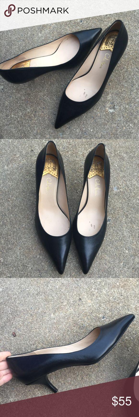 Women's Cole Haan Black Leather Pumps Heels 9B Women's Cole Haan Black Leather Pumps Heels 9B Nike Air Technology  EUC Cole Haan Shoes Heels