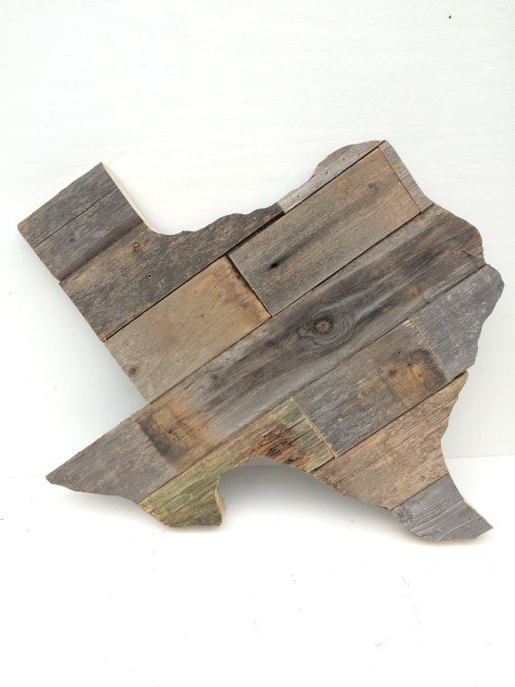 Texas Wall Decor Reclaimed Wood Mix 24 By Wayneworks On Etsy