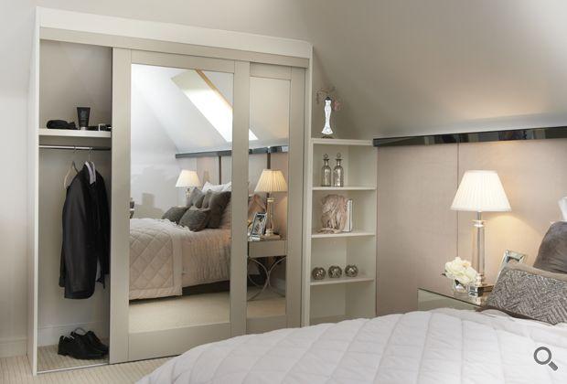 Aspen sliding wardrobe doors with mirrored infill
