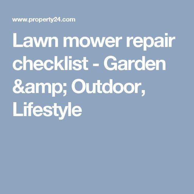 The 77 best Lawn images on Pinterest | Small engine, Engine repair ...