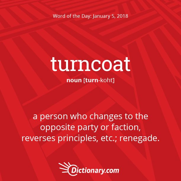 Today's Word of the Day is turncoat. #wordoftheday #language #vocabulary