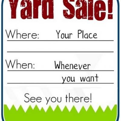 21 best Yard Sale images on Pinterest Yard sales, Garage sale - free for sale signs for cars