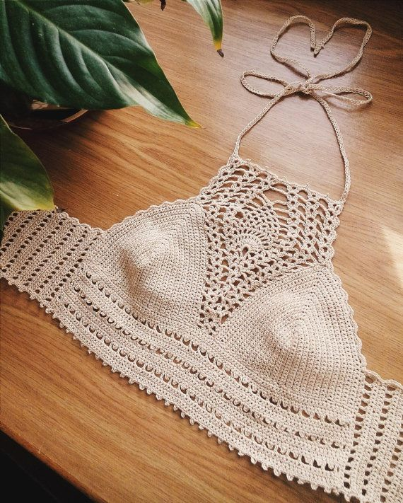 Crochet top Crochet halter Crochet crop top by HarleyQCrochet