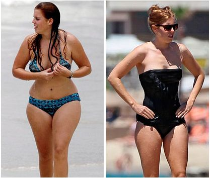 Nutrisystem model pics before airbrushing photos in photoshop