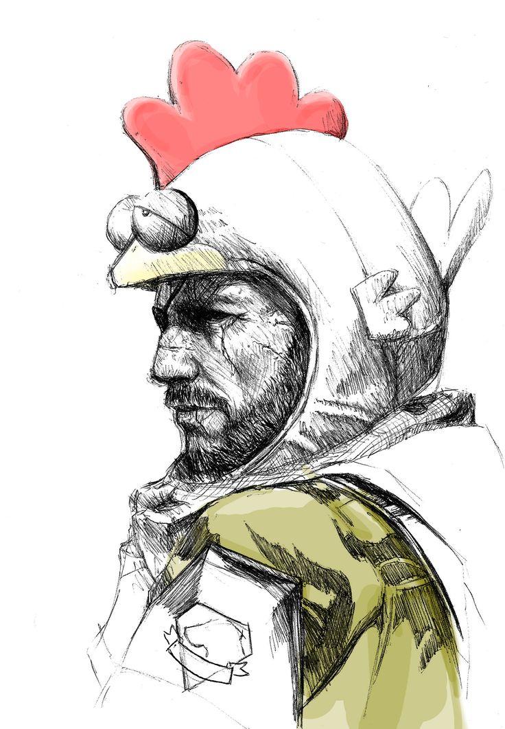 Metal Gear Solid V - Big Boss Punished Snake art drawing - Kreg Franco