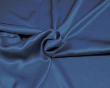 Zijde satijn kobalt blauw