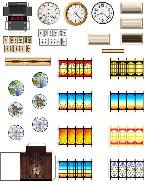 Dollhouse Printables: Printable Dollhouse Furniture Patterns