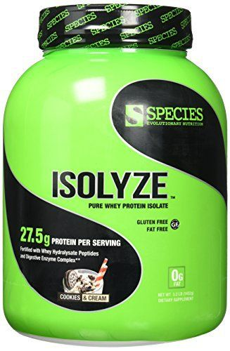Species Nutrition Isolyze Cookies & Cream Supplement, 3.1 Pound //Price: $84.40 & FREE Shipping //     #hashtag4