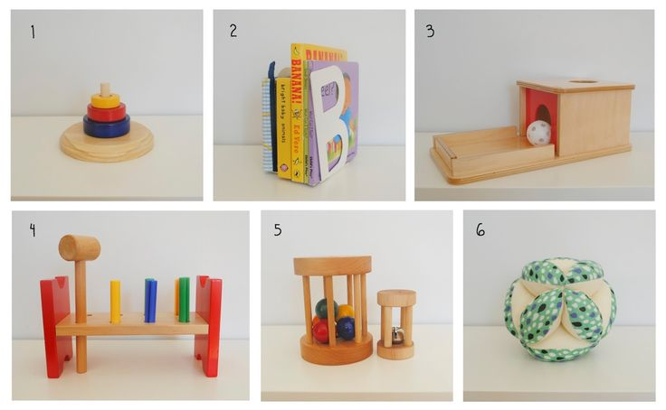 1 - Ring Stacker  from Beginning Montessori . Beau hasn't mastered this material yet, which should be expected at around 10 months, how...