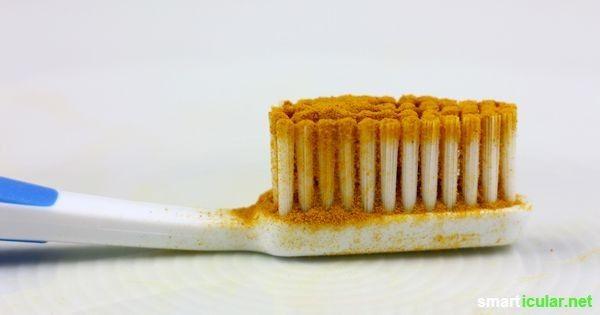 Viele unangenehme Verfärbungen der Zähne kannst du mit einfachen und natürlichen Hausmittel entfernen oder merklich aufhellen. Hier die besten Mittel