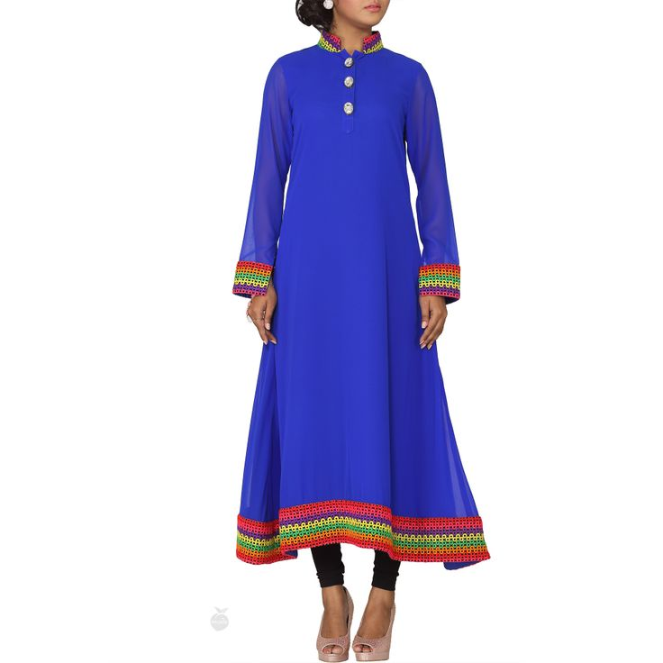 Bright Blue Tunic by Ismail Patel. #blue  #prints #tunic
