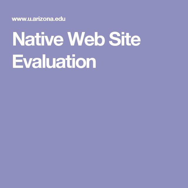 Native Web Site Evaluation