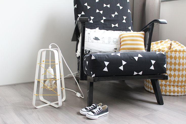 babykamer kinderkamer verlichting industrieel monochrome style