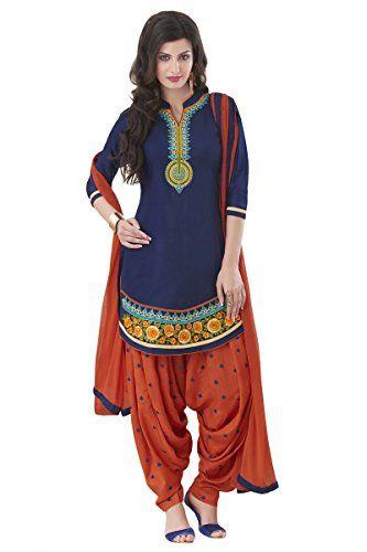 new orange blue cotton punjabi patiala suit dress materia... http://www.amazon.in/dp/B01GLAWVRC/ref=cm_sw_r_pi_dp_Isuyxb0TNEMBQ