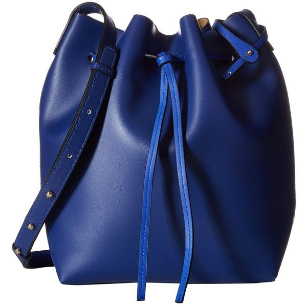 Gabriella Rocha Elissa Bucket Purse with Wristlet (Blue) Wallet... ($38) ❤ liked on Polyvore featuring bags, handbags, shoulder bags, blue, bucket shoulder bag, blue handbags, drawstring shoulder bag, shoulder handbags and bucket purse