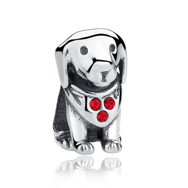 Dolce e tenero cagnolino, Sweet and tender little dog Bead,Charm, Argento925 adatta a Pandora Charms Pandora Beads e Bracciale europeo C016 di OceanBijoux su Etsy