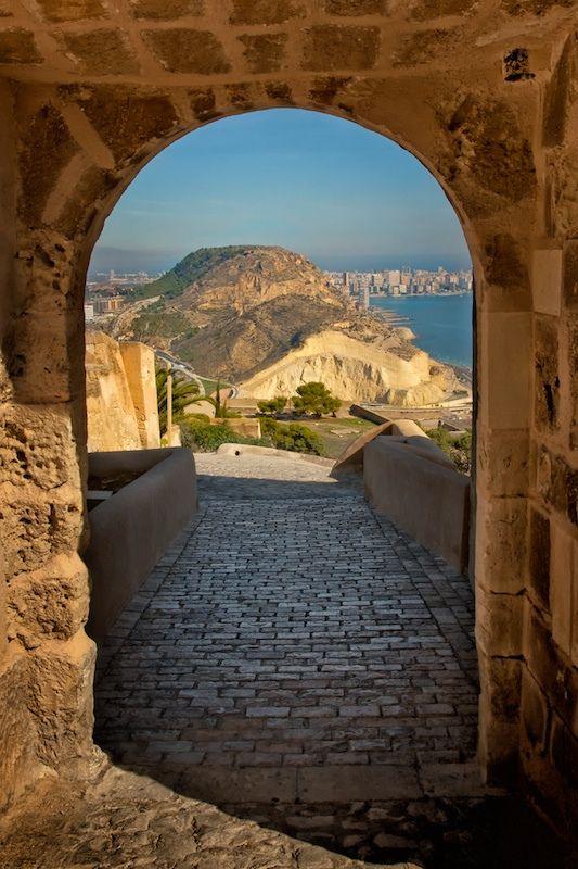 Santa Barbara castle, Alicante, Spain .