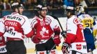 Dec.28 2015 - Alexandre Giroux and Chris DiDomenico scored as Canada shut out HC Davos 2-0 at Vaillant Arena on Monday to reach the semifinals at the Spengler Cup.