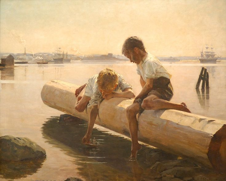The Little Boat - Artist Albert Edelfelt 1884