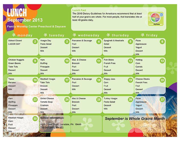 Lunch Menu, Lunch Ideas, Preschool Lunch, Lollipop Lunches, Midgee ...