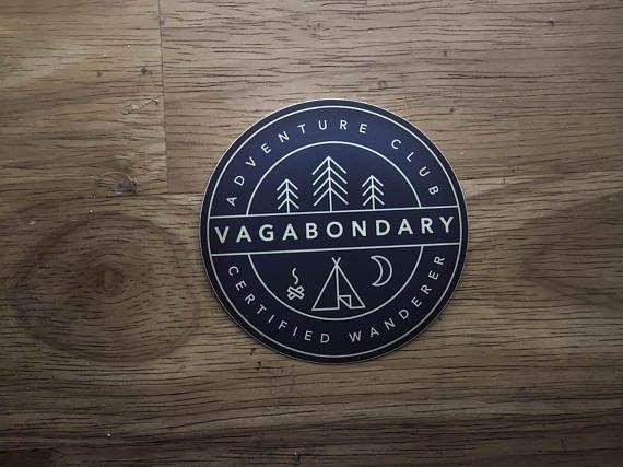 Vagabondary Adventure Club Vinyl Sticker