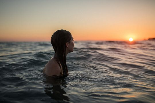 Lina en el mar