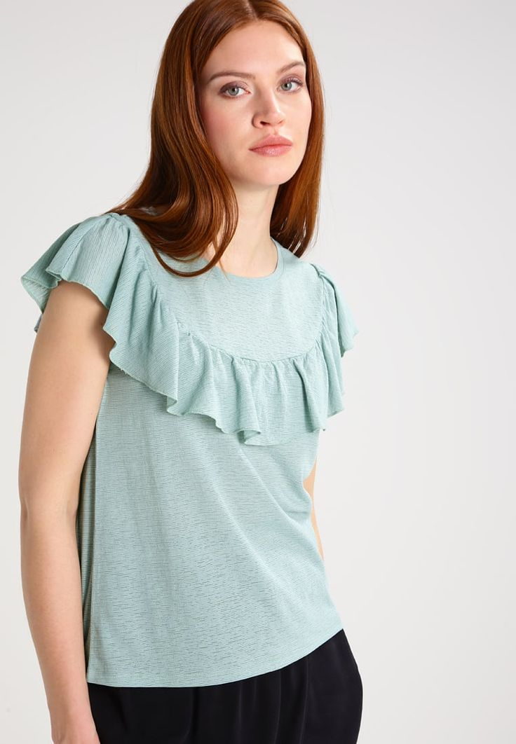 Noisy May NMFRILLY - T-shirt con stampa - blue surf