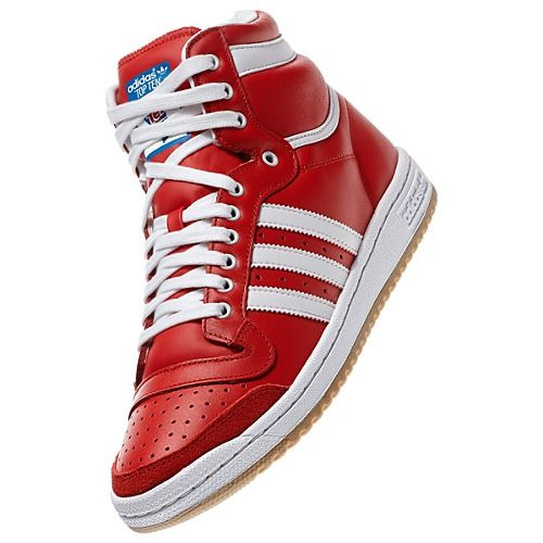 Men's adidas Top Ten Hi Shoes Red also comes in Black Were $90.00 Now $45.00