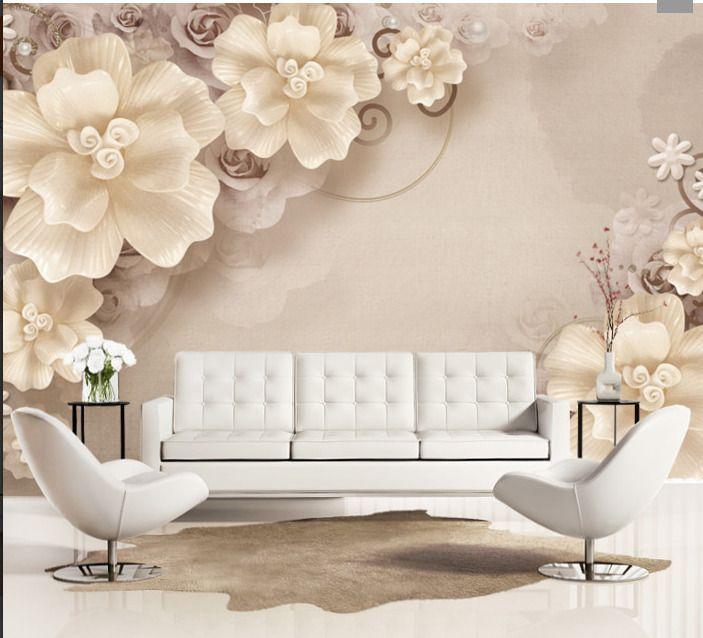 3d Wallpaper Bedroom Mural Roll Modern Luxury Flower Background Wall Bj59 Wallpaper Walls Bedroom Home Wallpaper 3d Wallpaper For Bedroom