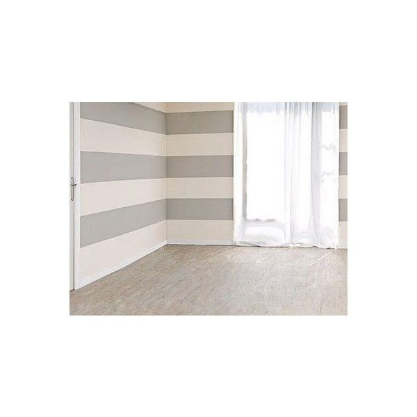 House Decoration Step by step to paint a striped wall ❤ liked on Polyvore featuring rooms, empty rooms, home, backgrounds and grey