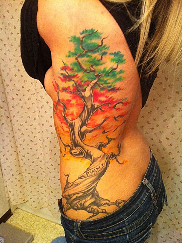 #tree #tattoo #psalm #colorful by Steve fuller Southside tattoo in oregon
