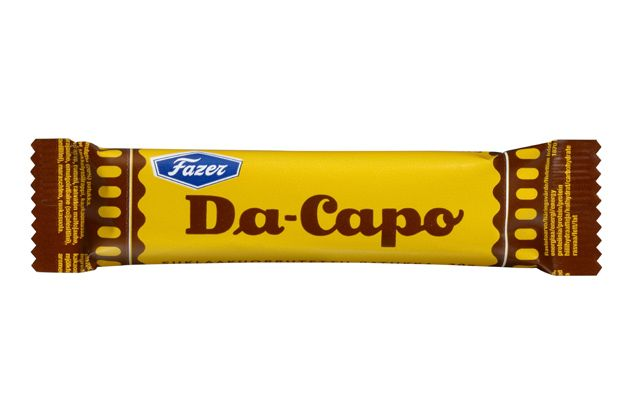 Da-Capo is Fazer's first chocolate bar.