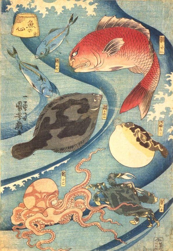 歌川国芳:魚の心