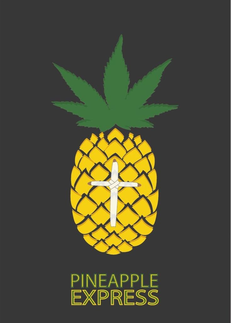 Pineapple Express (2008) ~ Minimal Movie Poster by David Peacock #amusementphile
