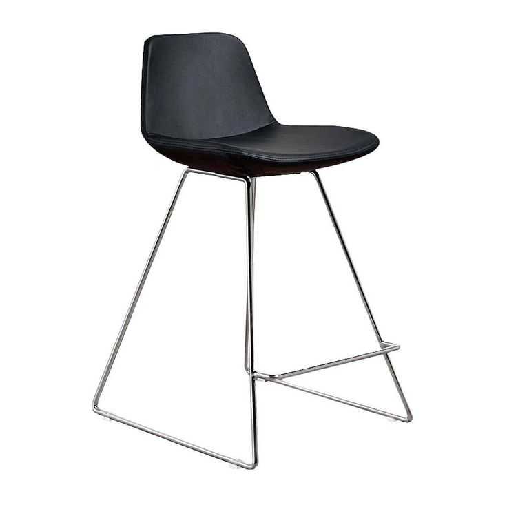 Browse Contemporary Bar Stools Online or Visit Our Showrooms To Get Inspired With The Latest Bar Stools From Life Interiors - Parker Bar Stool (Chrome, Black Leatherette)