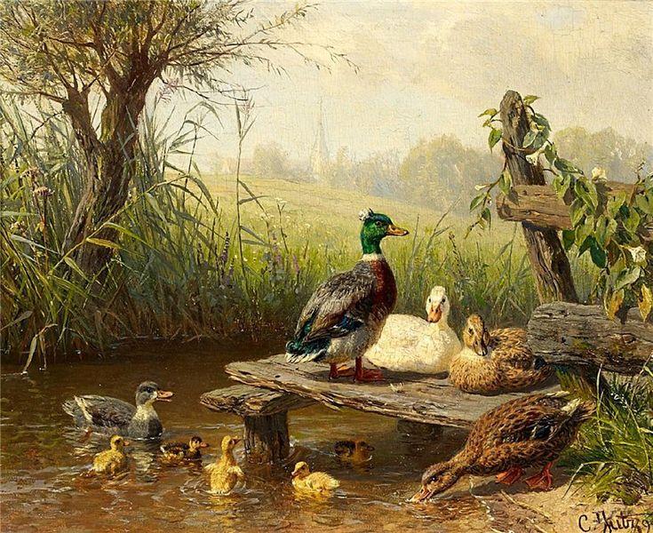 На птичьем дворе... Carl Jutz (German, 1838-1916). Обсуждение на LiveInternet - Российский Сервис Онлайн-Дневников