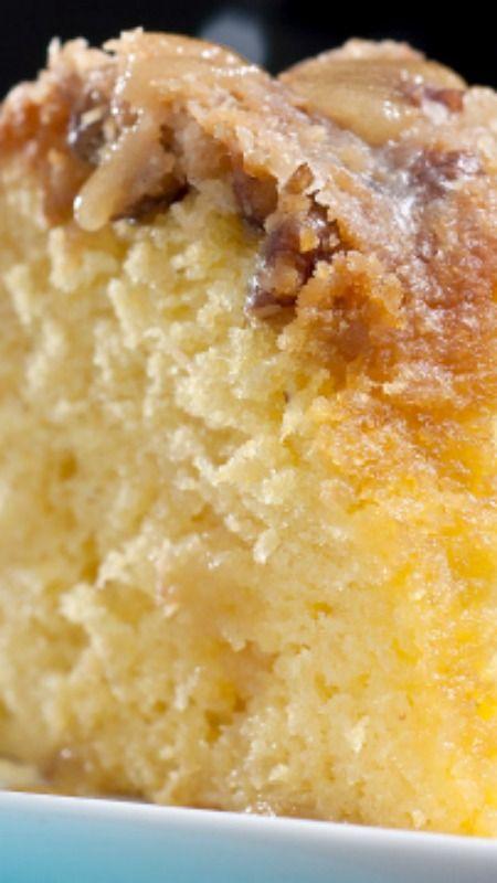 Coconut Rum Cake with Dark Rum Butter Glaze