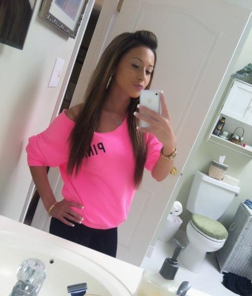neon top + hair <3