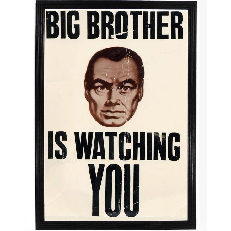 004 1984 Big Brother Poster Print orwell, Books, Novels
