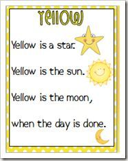Color poems...hmmm...fluency poems with picture support for the first days of school!