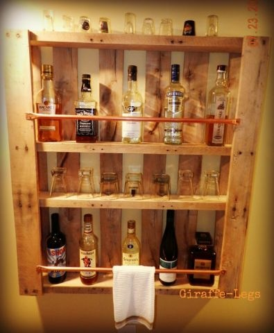 Home bar from the old pallet