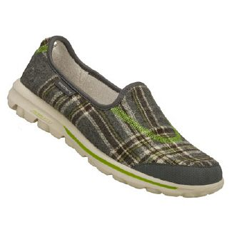 Athletics Skechers Fitness Women's Go Walk -Sparky Charcoal/Lime FamousFootwear.com