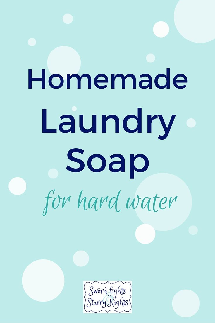 Homemade Laundry Soap for Hard Water AWESOME!  I NEED THIS!