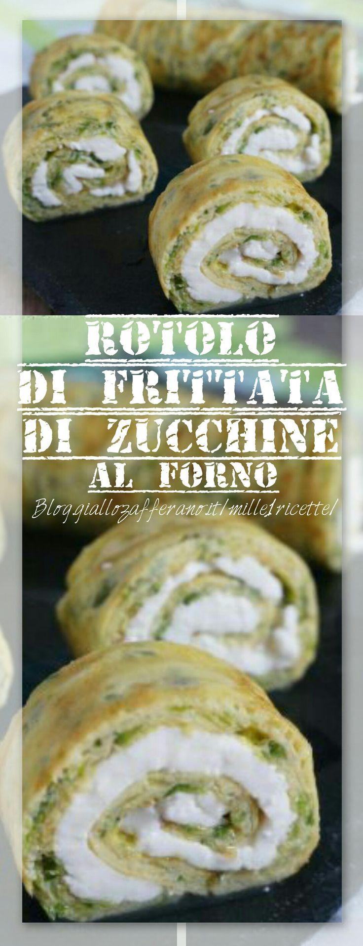 Rotolo di frittata di zucchine farcito