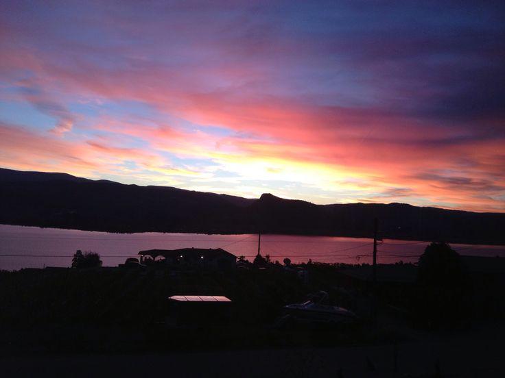 Sunset in Okanagan Valley