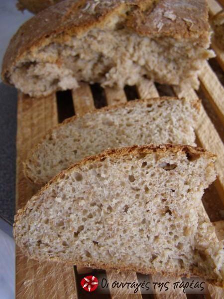 Ψωμί ολικής με γιαούρτι για αρτοπαρασκευαστή #sintagespareas